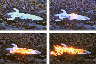 "Ana Mendieta, ""Alma Silueta en Fuego (Silueta de Cenizas),"" 1975"