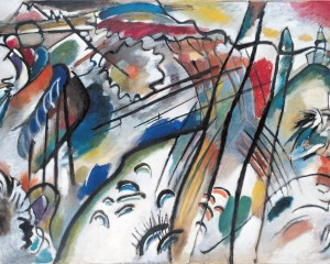 Wassily Kandinsky (Russian, 1866-1944). Improvisation 28 (second version) (Improvisation 28 [zweite Fassung]), 1912. Oil on canvas. 43 7/8 x 63 7/8 in. (111.4 x 162.1 cm). Solomon R. Guggenheim Founding Collection, By gift 37.239. Solomon R. Guggenheim Museum, New York / © 2009 Artist Rights Society (ARS), New York/ADAGP, Paris.