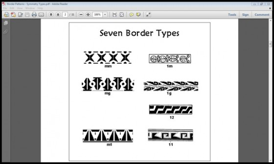 7 border pattern symmetry types