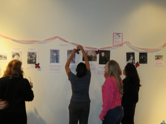 Students prepping the Salon des femmes as part of Reacting to the Past in Practice