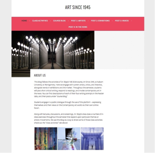 Figure 1. Art Since 1945 home page