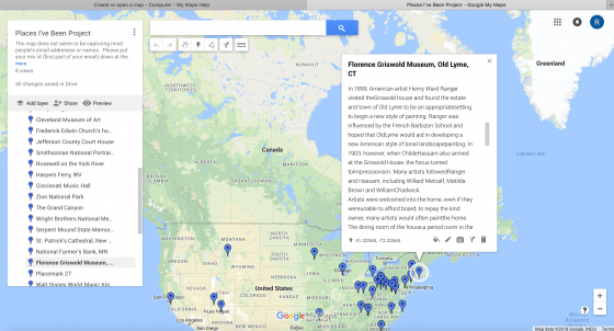 Google Map Project   Art History Teaching Resources