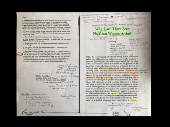 Student Annotations of Nochlin's article